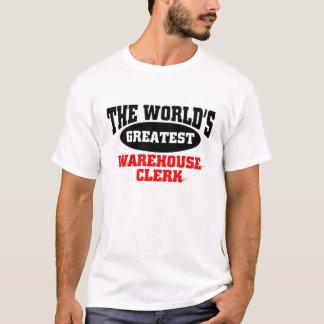 世界ですばらしい倉庫の事務員 Tシャツ