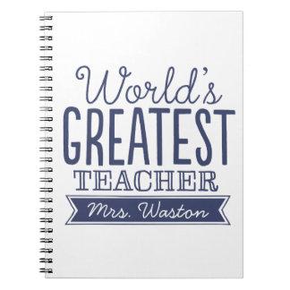 世界ですばらしい先生、カスタムなノートのギフト ノートブック