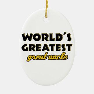 世界ですばらしい叔父さん セラミックオーナメント