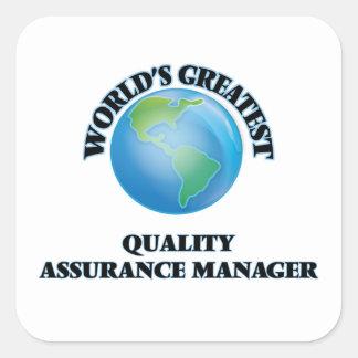 世界ですばらしい品質保証のマネージャー スクエアシール