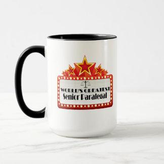 世界ですばらしい年長のパラリーガル マグカップ