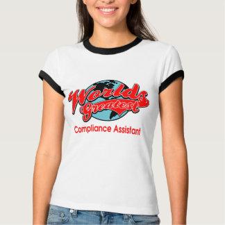 世界ですばらしい承諾の助手 Tシャツ