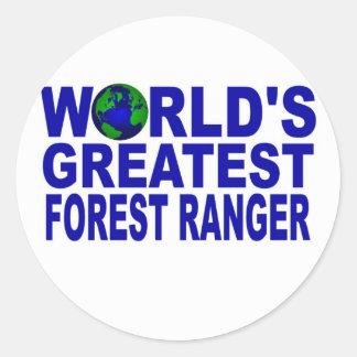 世界ですばらしい森林レーンジャー ラウンドシール