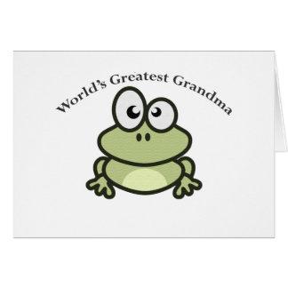 世界ですばらしい祖母 グリーティングカード
