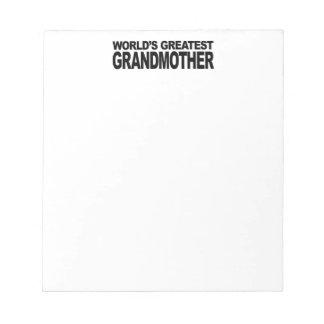 世界ですばらしい祖母 ノートパッド
