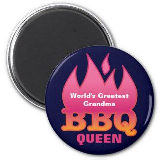 世界ですばらしい祖母BBQの女王 マグネット