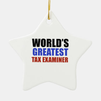 世界ですばらしい税の検査官 セラミックオーナメント