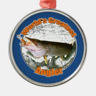 世界ですばらしい釣り人 メタルオーナメント
