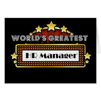 世界ですばらしいHRのマネージャー カード