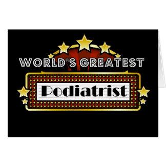 世界ですばらしいPodiatrist カード
