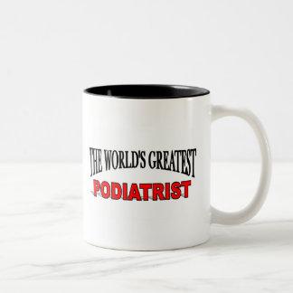 世界ですばらしいPodiatrist ツートーンマグカップ