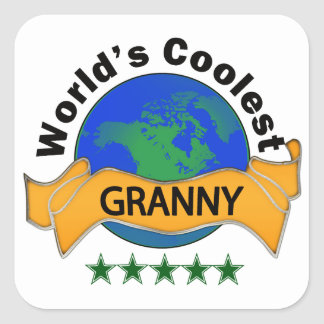 世界で最もクールなおばあさん スクエアシール