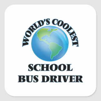 世界で最もクールなスクールバスの運転者 スクエアシール