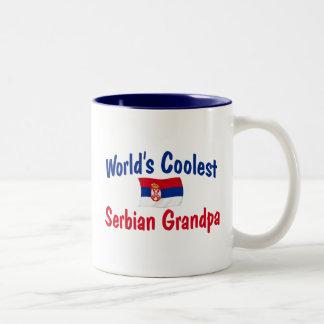 世界で最もクールなセルビアの祖父 ツートーンマグカップ