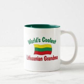 世界で最もクールなリトアニアの祖母 ツートーンマグカップ