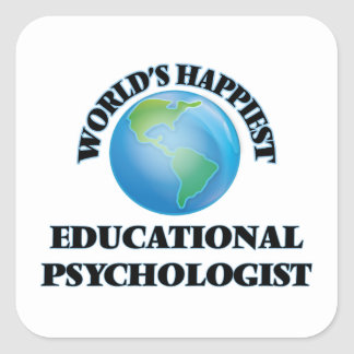 世界で最も幸せな教育心理学者 スクエアシール