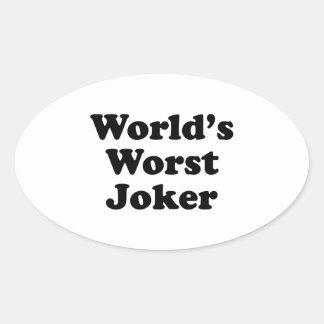 世界で最も悪いジョーカー 楕円形シール