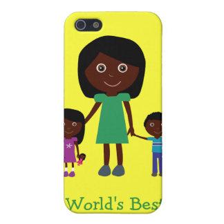 世界で最も最高のなお母さんのかわいい民族のマンガのキャラクタ iPhone 5 カバー
