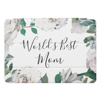 世界で最も最高のなお母さんのかわいらしい水彩画の花柄の場合 iPad PROカバー