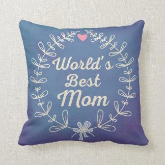 世界で最も最高のなお母さんの月桂樹のリースの記念品のギフト クッション