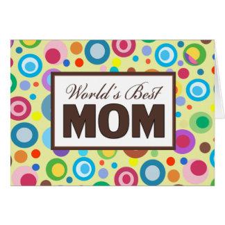 世界で最も最高のなお母さん グリーティングカード
