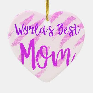 世界で最も最高のなお母さん セラミックオーナメント