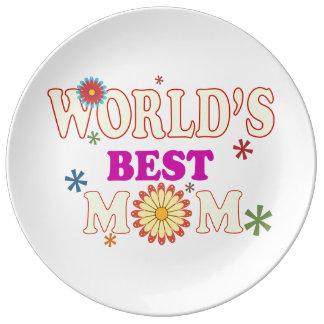 世界で最も最高のなお母さん 磁器プレート