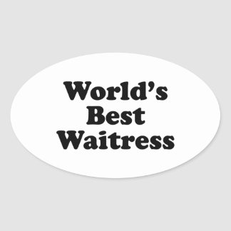世界で最も最高のなウェートレス 楕円形シール
