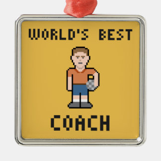 世界で最も最高のなサッカーのコーチのオーナメント メタルオーナメント