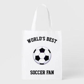 世界で最も最高のなサッカーファンの再使用可能な買い物袋 エコバッグ