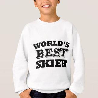 世界で最も最高のなスキーヤー スウェットシャツ