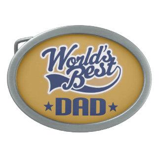 世界で最も最高のなパパの父の日のギフト 卵形バックル