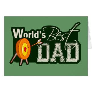 世界で最も最高のなパパ; アーチェリー カード