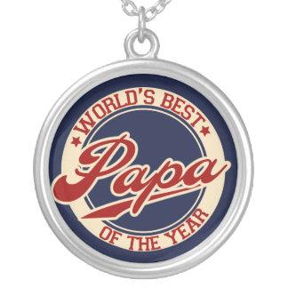 世界で最も最高のなパパ シルバープレートネックレス