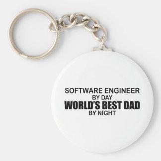 世界で最も最高のなパパ-ソフトウェアエンジニア キーホルダー