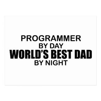 世界で最も最高のなパパ-プログラマー 葉書き
