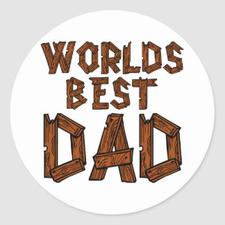 世界で最も最高のなパパ ラウンドシール