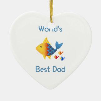 世界で最も最高のなパパ(魚) セラミックオーナメント