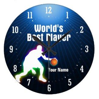 世界で最も最高のなプレーヤー(バスケットボール) -柱時計