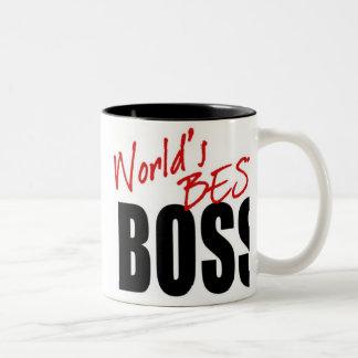 世界で最も最高のなボス-マグ ツートーンマグカップ