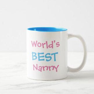 世界で最も最高のな乳母のマグ ツートーンマグカップ