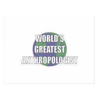 世界で最も最高のな人類学者 ポストカード