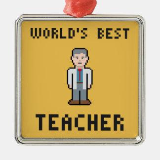 世界で最も最高のな先生のオーナメント メタルオーナメント