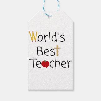 世界で最も最高のな先生のカッコいいの学校供給 ギフトタグ