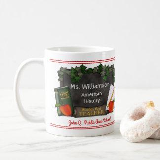 世界で最も最高のな先生の名前|の学校|の主題 コーヒーマグカップ