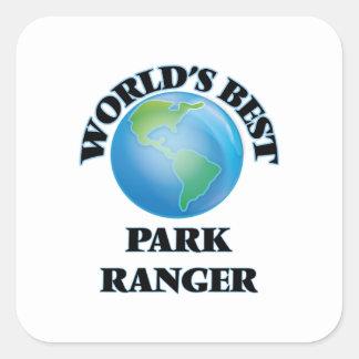 世界で最も最高のな公園管理者 スクエアシール