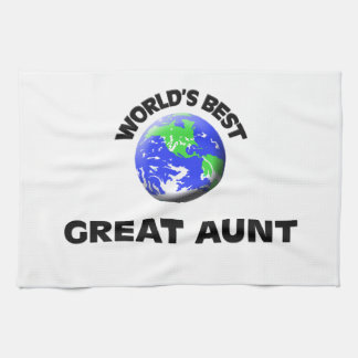 世界で最も最高のな大叔母 キッチンタオル