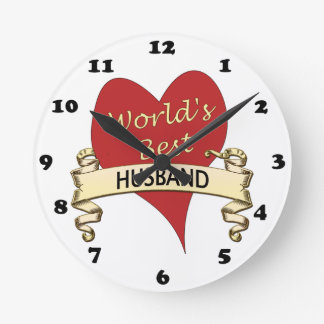 世界で最も最高のな夫 ラウンド壁時計