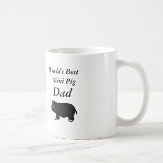 世界で最も最高のな小型ブタのパパ コーヒーマグカップ