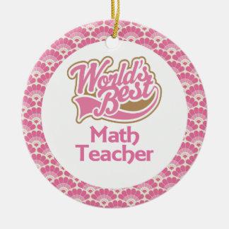 世界で最も最高のな数学の教師のギフトのオーナメント セラミックオーナメント